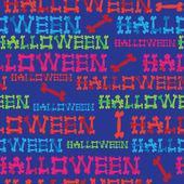Seamless pattern inscription halloween — Stock Vector