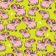 Seamless pattern large and small pigs  — Stock Vector