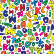 Vecteur: Multicolor english alphabet seamless pattern