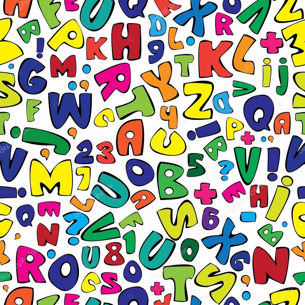 Multicolor english alphabet seamless pattern – Stock Illustration: depositphotos.com/32957797/stock-illustration-multicolor-english...