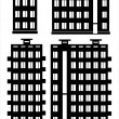 Apartment house icon set isolated on white background — Stock Vector #33223247