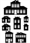 House icon set isolated on white background — Cтоковый вектор