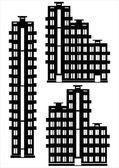 Apartamento casa icono sistema aislado sobre fondo blanco — Vector de stock