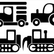 Trucks car icons isolated on white background — Stock Vector