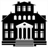 Set di icone casa isolato su sfondo bianco — Vettoriale Stock
