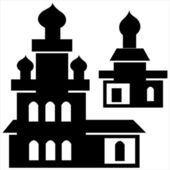 Churches icon isolated on white background — Stock Vector