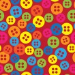 Multicolored buttons of seamless pattern — Stock Vector