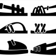 Men's shoes of icons set — Stock Vector