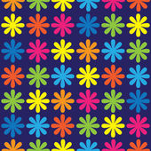 Multicolored flowers of seamless pattern — Stock Vector