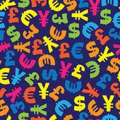 Monnaie à partir du modèle sans couture de différents pays — Vecteur