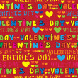 Text Valentines Day seamless pattern — Stockvektor