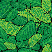 Green leaves of seamless pattern — Stock Vector