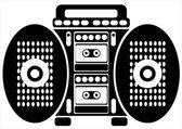 Double cassette recorder on white background — Stock Vector