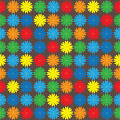 Multicolored flowers seamless pattern — Stock Vector