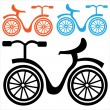 Bicycle icon isolated on white background — Stock Vector #39453491