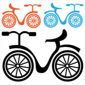 Bicycle icon isolated on a white background — Vecteur
