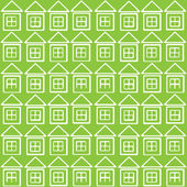 White houses icon of seamless pattern — Stock Vector