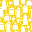 Electric kettle icons of seamless pattern — Stock Vector #42196307