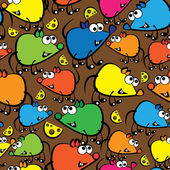 Cute colorful mouse seamless pattern — Vetorial Stock
