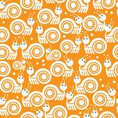 白色的蜗牛图标无缝模式 — 图库矢量图片