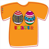 T-shirt with Easter eggs on white background  — Stockvektor