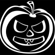 Pumpkin isolated on black background — Stock Photo #44359431
