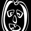 Pumpkin isolated on black background — Stock Photo #44359439