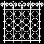 Element fence isolated on black background — Stock Photo