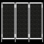 Folding screen isolated on black background — Stock fotografie