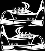 Youth shoes isolated on black background — Foto de Stock