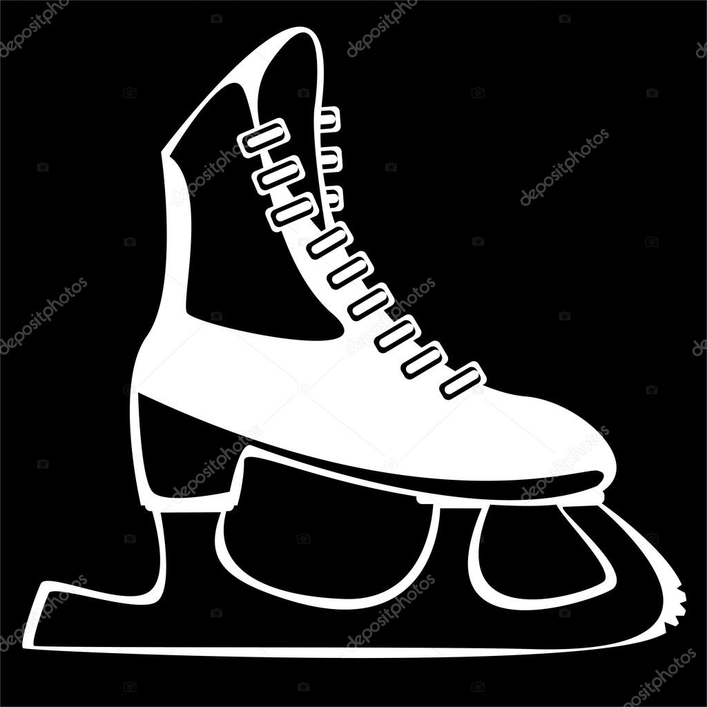 Roller skates for figure skating - Skates For Figure Skating On Black Background Stock Photo 44360045