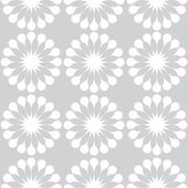 White dandelions flowers seamless pattern — Stock Vector