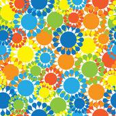 Padrão sem emenda de multicoloridas flores pequenas — Vetor de Stock