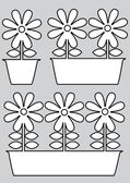 Pot of flowers icons isolated on gray background — Stock Vector