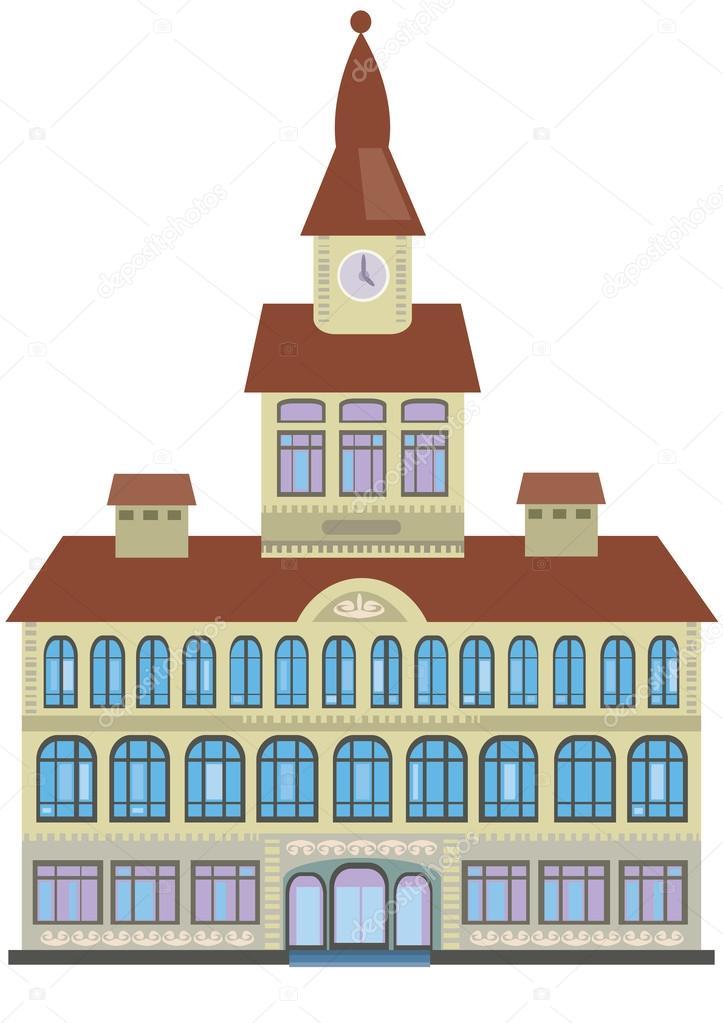 City hall building cartoon