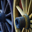 Wooden wheels - Stock Photo