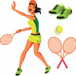 Royalty-Free Stock Vector Image: Tennis vector illustration set