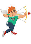 Hipster Cupid — Stock Vector