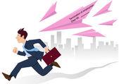 Unikanie zwolnień — Wektor stockowy