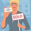 Royalty-Free Stock Vector Image: Real estate agent
