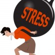 Stock Vector: Womunder stress