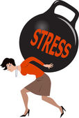 Woman under stress — Stock Vector