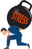 Man under stress — Stock Vector
