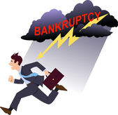 Avoiding bankruptcy — Stock Vector
