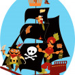 Pirate ship — Stock Vector #30806773