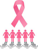 Breast Cancer Rally — Stock Vector