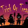 Vector de stock : Trick or treat card