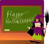 Halloween at school — Stock Vector