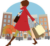 Fall shopping — Stock Vector