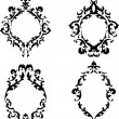 Ornate baroque frames vector set — Stock Vector